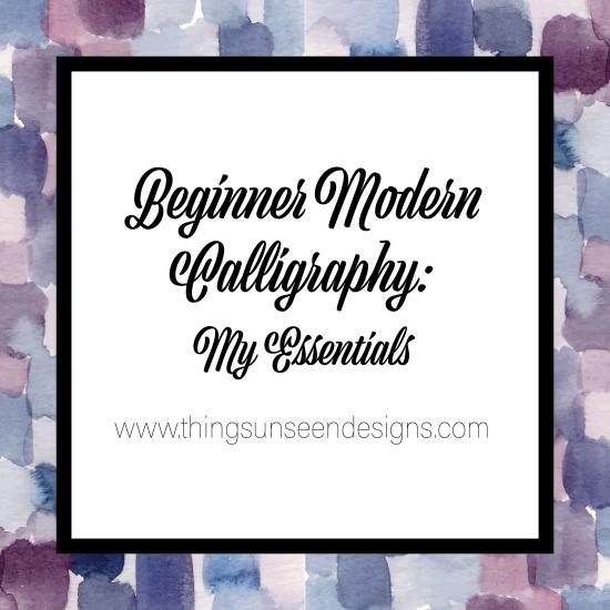 Beginner Modern Calligraphy