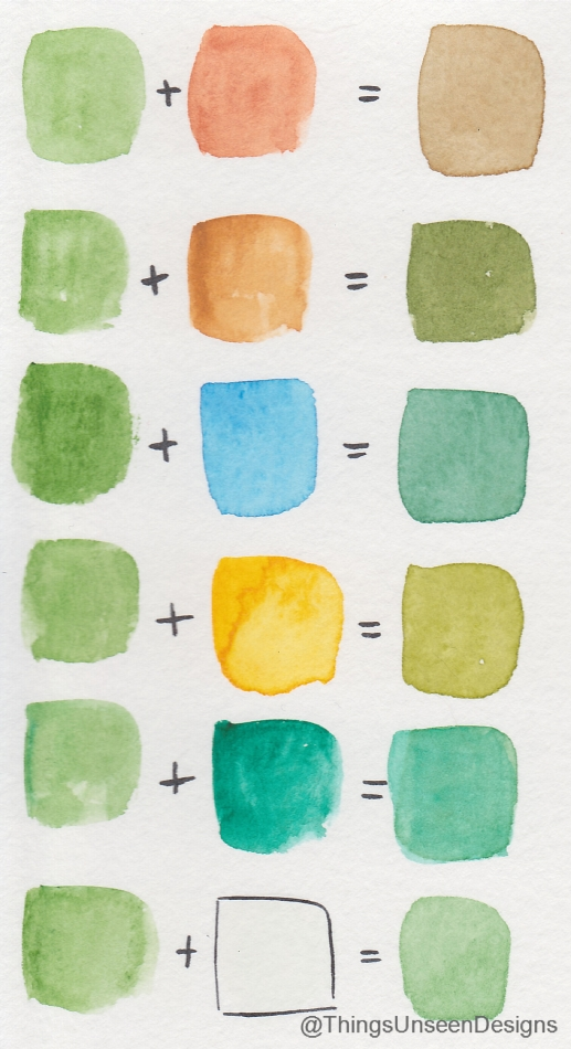 Mixed colors swatch