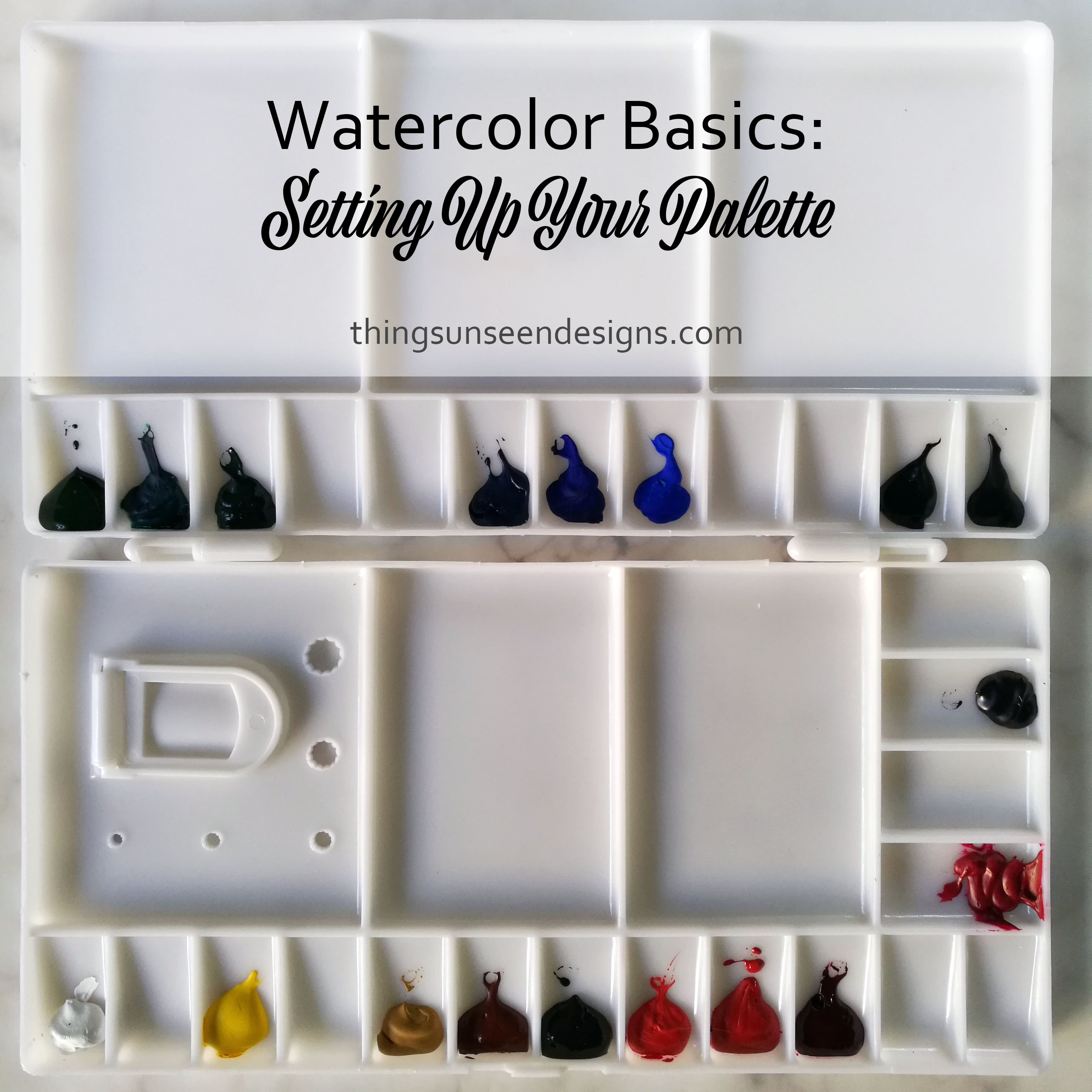 Watercolor Basics Setting Up Your Palette Things Unseen