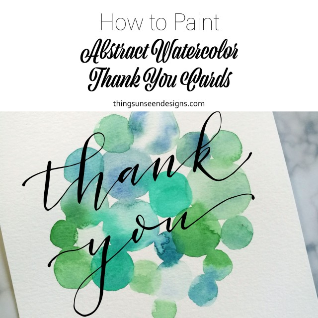 DIY Abstract Watercolor Thank You Card
