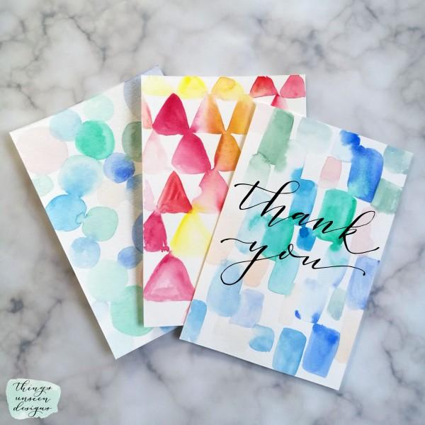 DIY Abstract Watercolor cards